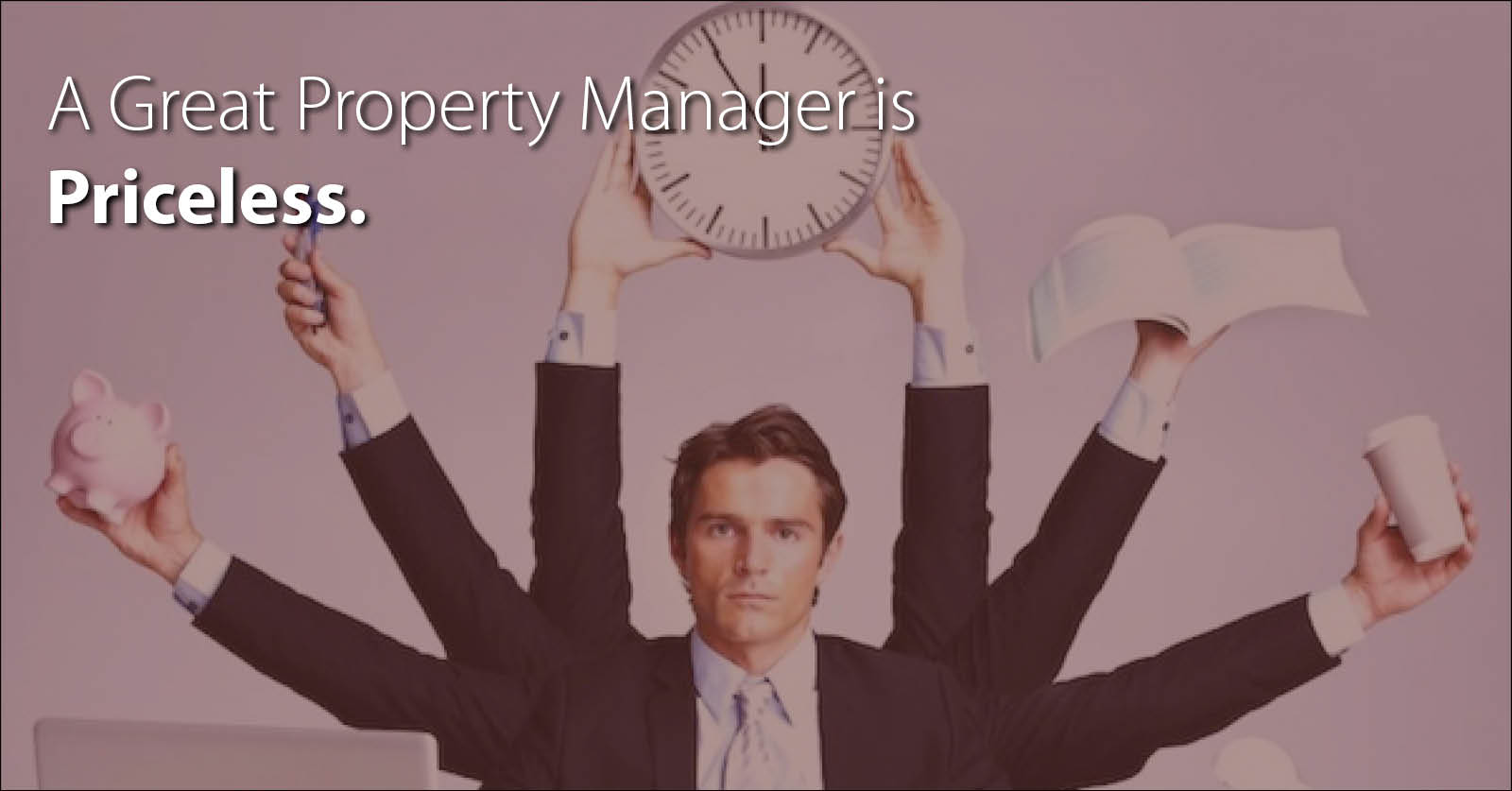 a property manager balancing his time