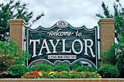 Taylor Texas sign
